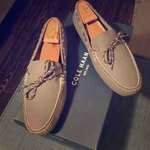 Cole Haan Gray Leather Loafer